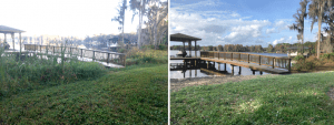 Odessa Lakefront Cleaning Before and After