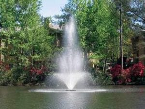 Cascading pond fountains